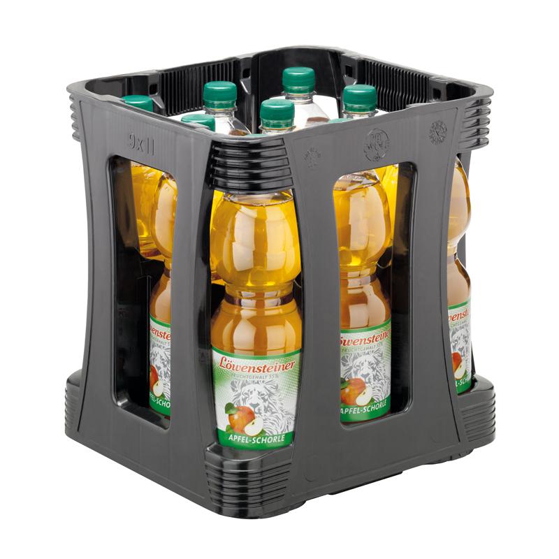 Apfelschorle 1,0l-Kiste