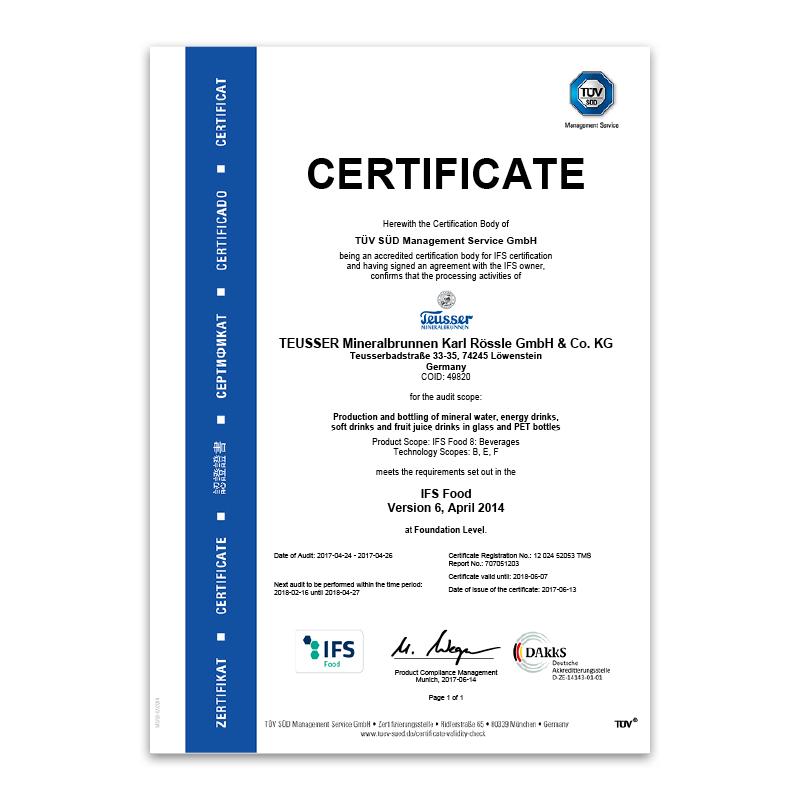 IFS-Zertifikat 2017 Englisch
