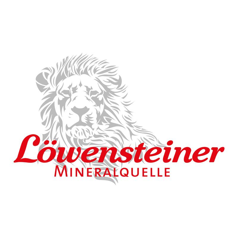 Logo Löwensteiner Mineralquelle mit Löwe