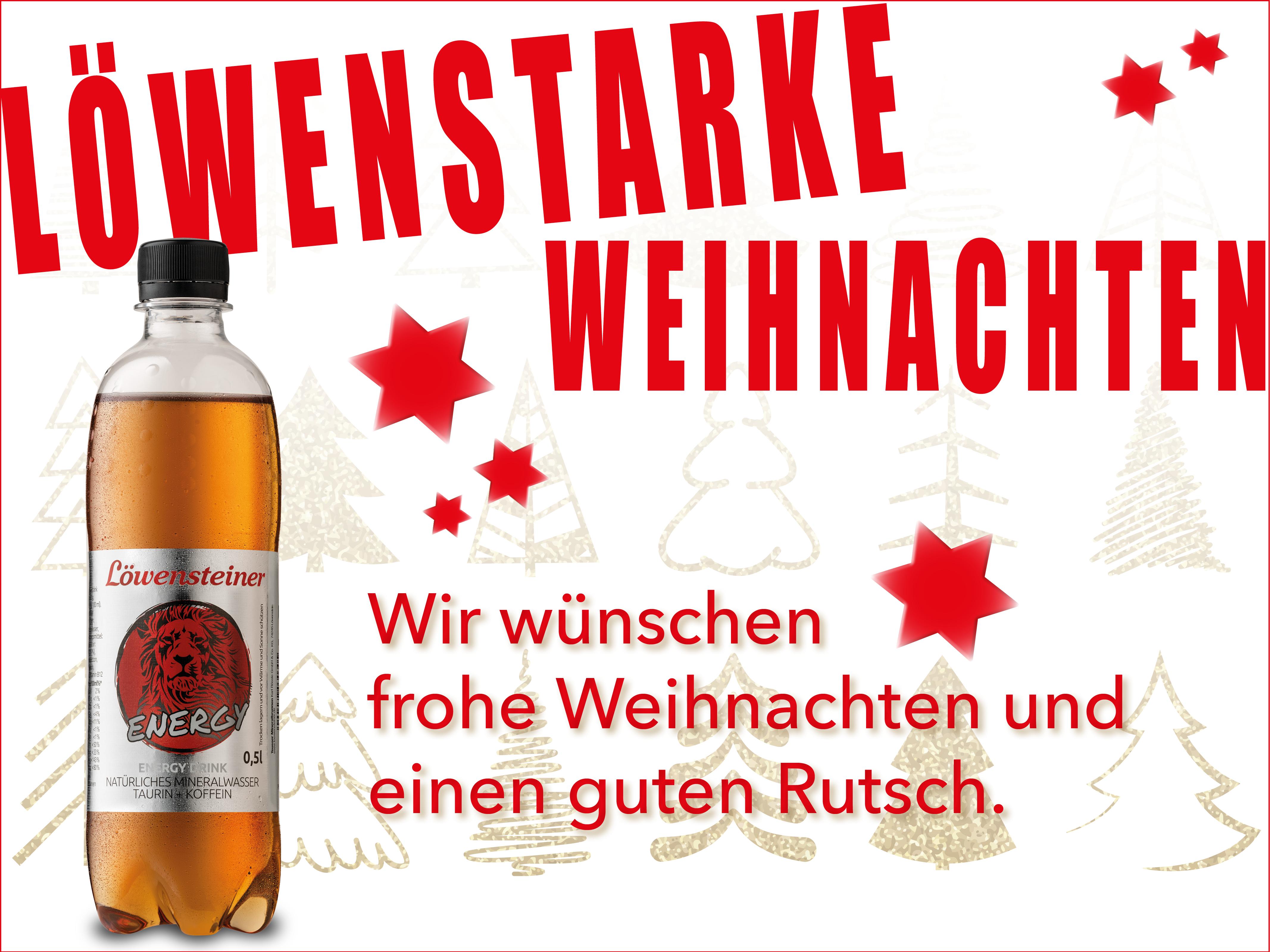 Löwenstarke Weihnachten und einen guten Rutsch ins neue Jahr 2019!