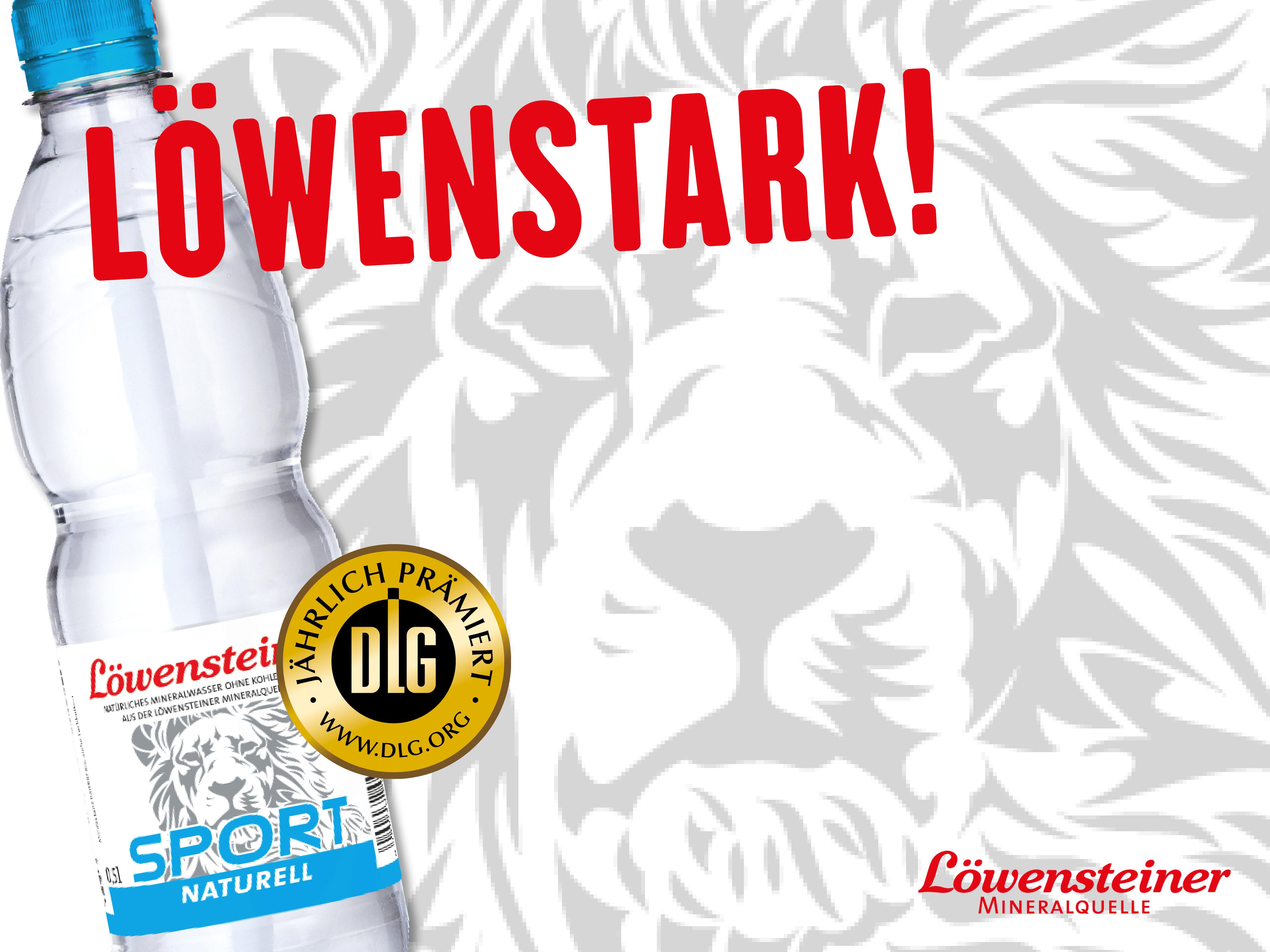 Prämierte Qualität! DLG-Goldmedaillen für Löwensteiner Mineralbrunnen